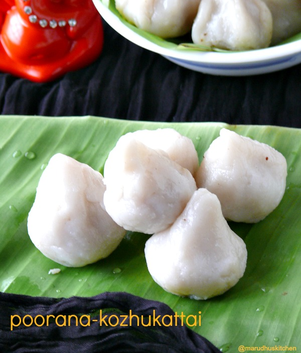 coconut(stuffed) kozhukattai recipe/sweet poorana kolukattai