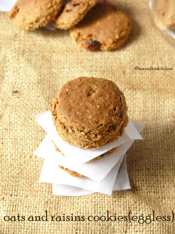 oats and raisins cookies/eggless oats cookie