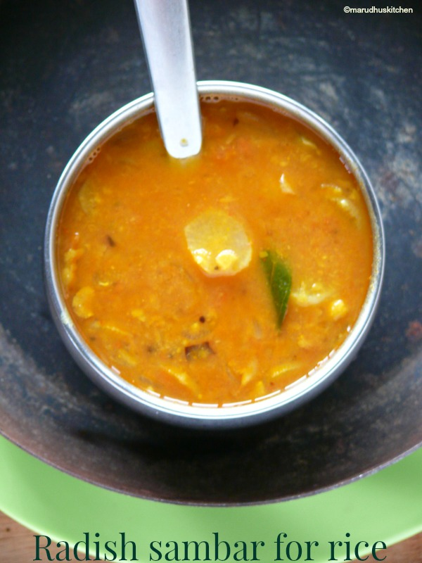 radish sambar south indian /Tamil Nadu style(for rice)