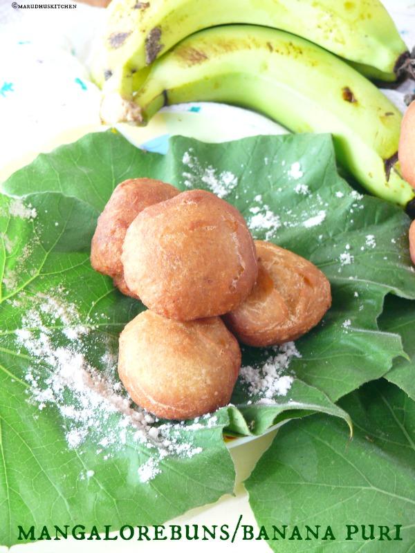 mangalore sweet bun recipe /Konkani buns/banana puri