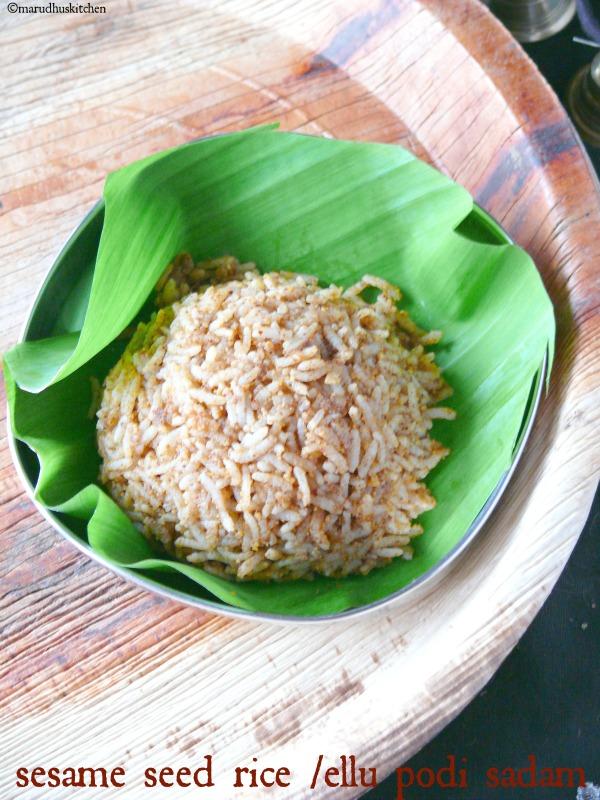 sesame seed rice /ellu podi sadam