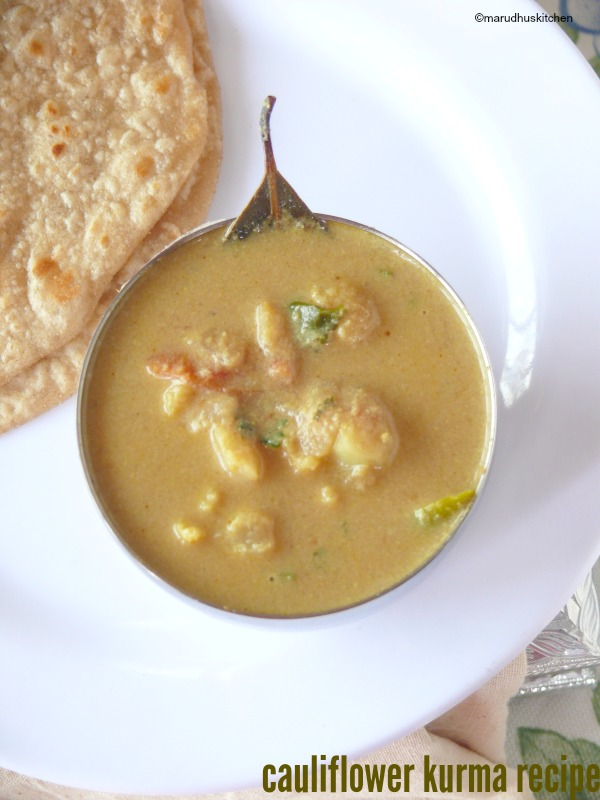 south indian cauliflower kurma